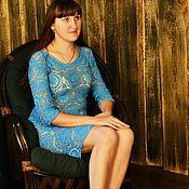 Одежда ручной работы. Ярмарка Мастеров - ручная работа Платье Очарование бирюзы. Handmade.