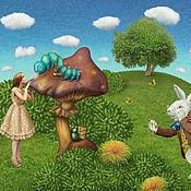 """Картины и панно ручной работы. Ярмарка Мастеров - ручная работа Фотосказка """"Алиса в стране чудес"""". Handmade."""