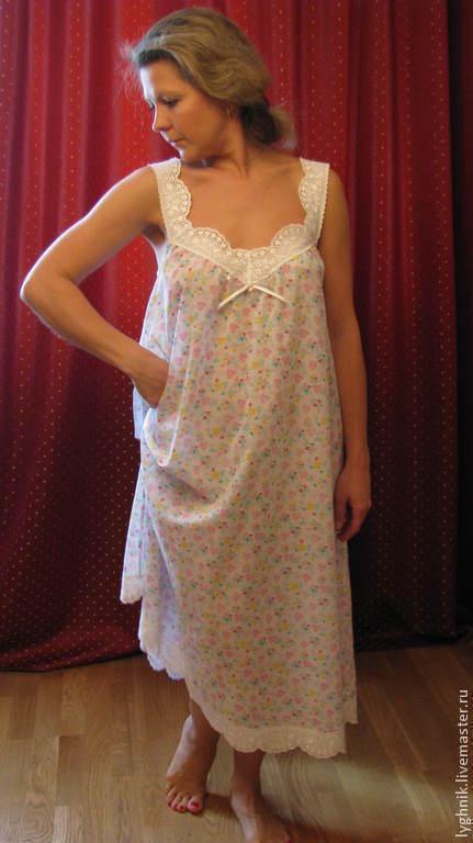 cc7595a73ab8 Ночная сорочка из батиста с шитьем