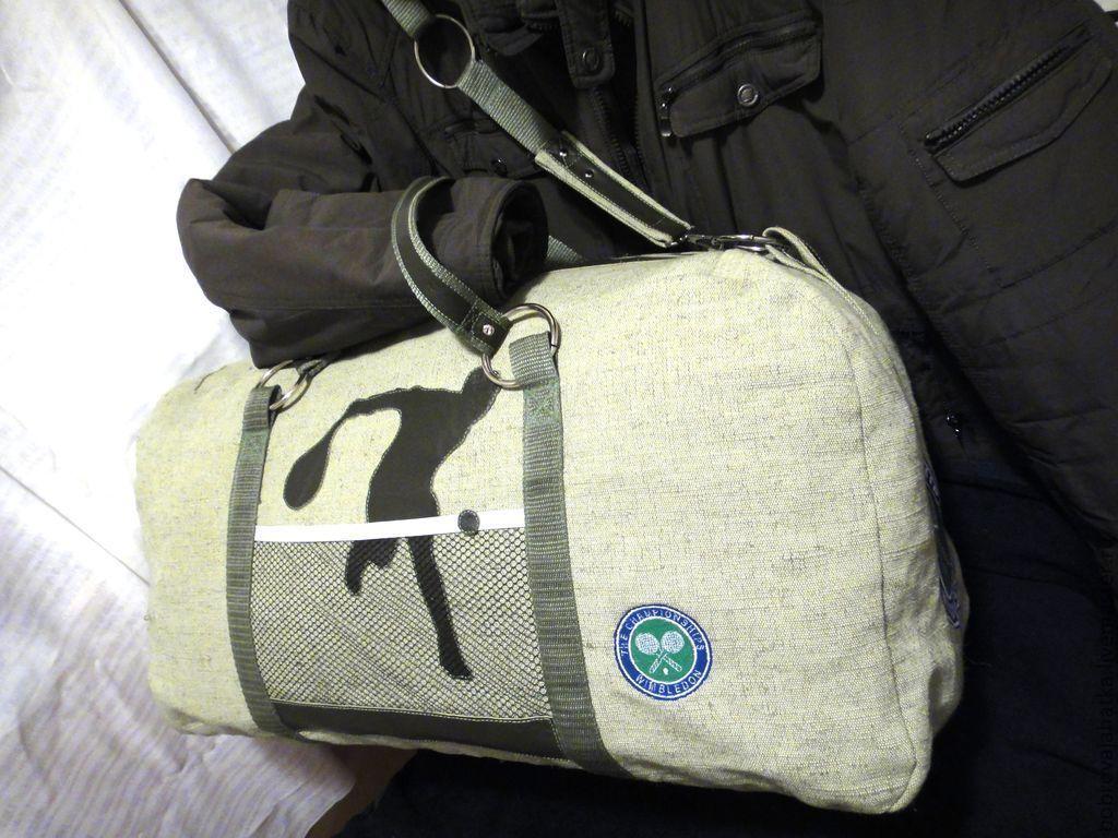 fd05023e26b3 Купить Мужская сумка спортивная через Спортивные сумки ручной работы. Мужская  сумка спортивная через плечо в подарок мужчине Теннис. Personalized ...