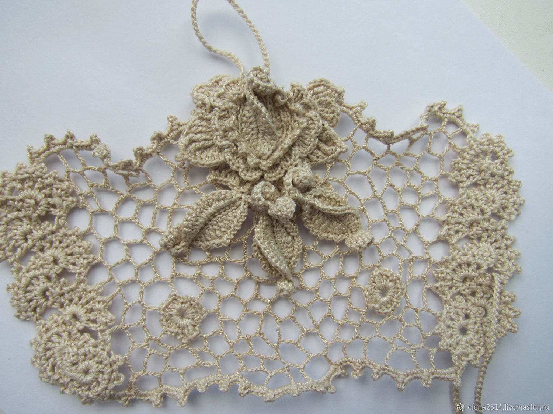 Bracelet of textile: Gentle beige. Irish lace, Textile bracelet, Rybinsk,  Фото №1