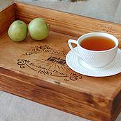 Для дома и интерьера handmade. Livemaster - original item Tray French chateau wood. Handmade.