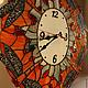 Часы для дома ручной работы. Ярмарка Мастеров - ручная работа. Купить Витражные часы со стрекозами. Handmade. Витраж