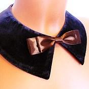 Аксессуары handmade. Livemaster - original item Removable collar / velvet. Handmade.
