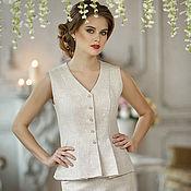 Одежда ручной работы. Ярмарка Мастеров - ручная работа Дизайнерский костюм Жилет + юбка. Handmade.