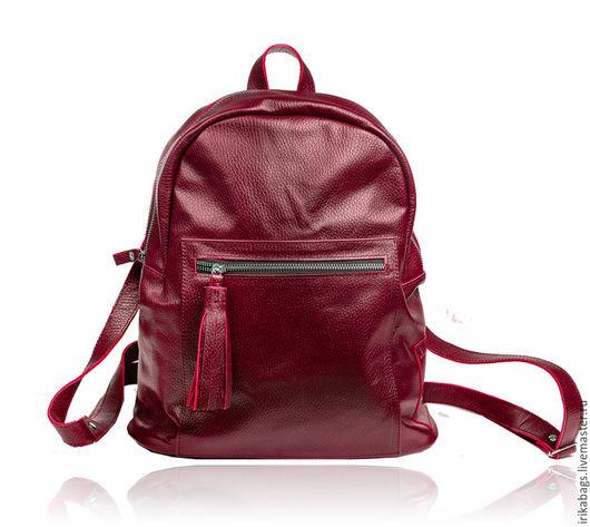 Рюкзаки ручной работы. Ярмарка Мастеров - ручная работа. Купить Cousine, элегантный рюкзак. Handmade. Бордовый, рюкзак кожаный