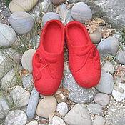 """Обувь ручной работы. Ярмарка Мастеров - ручная работа Валяные тапочки """" Аленький цветочек"""". Handmade."""