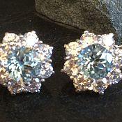 Украшения handmade. Livemaster - original item Earrings with Topaz and silver