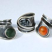 Украшения handmade. Livemaster - original item The ring is a swirl of 925 sterling silver with stone. Handmade.