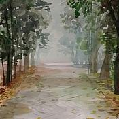 Картины и панно ручной работы. Ярмарка Мастеров - ручная работа Ранняя осень в парке. Handmade.