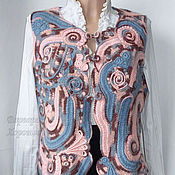 Одежда ручной работы. Ярмарка Мастеров - ручная работа Стильный вязаный жилет ручной работы. Handmade.