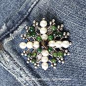 Украшения handmade. Livemaster - original item Brooch Pearl cross.. Handmade.