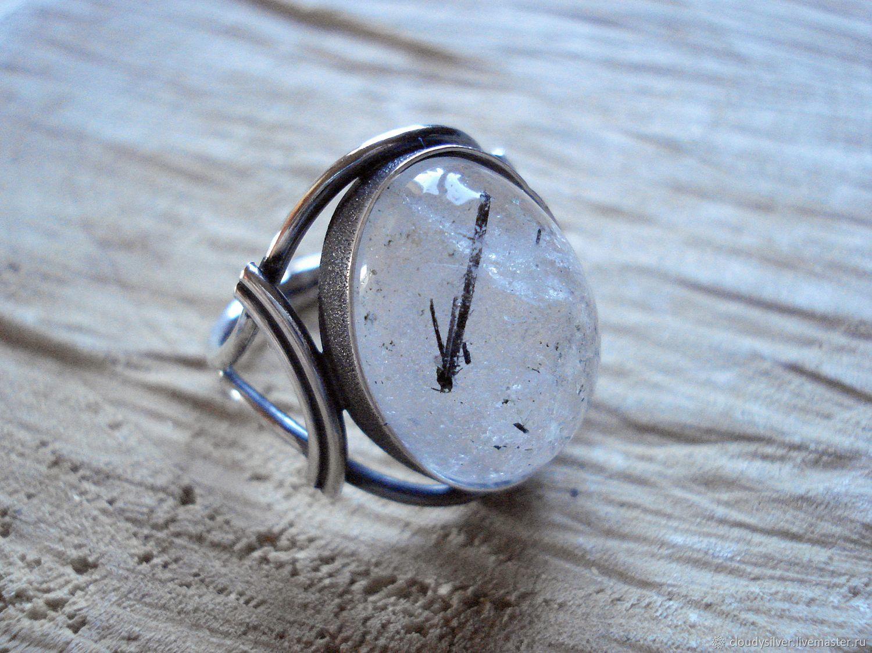 Серебряное кольцо с турмалиновым кварцем, Кольца, Санкт-Петербург,  Фото №1
