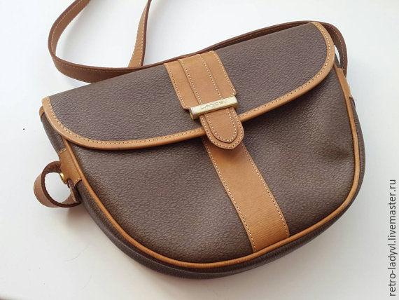 Винтажные сумки и кошельки. Ярмарка Мастеров - ручная работа. Купить Винтаж: сумка Lancel винтаж кроссбоди. Handmade. Коричневый