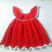 Платья ручной работы. Ярмарка Мастеров - ручная работа Платье нарядное для девочки крючком. Handmade.