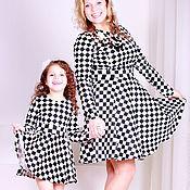 Одежда ручной работы. Ярмарка Мастеров - ручная работа Одинаковые платья для мамы и дочки, комплект. Handmade.