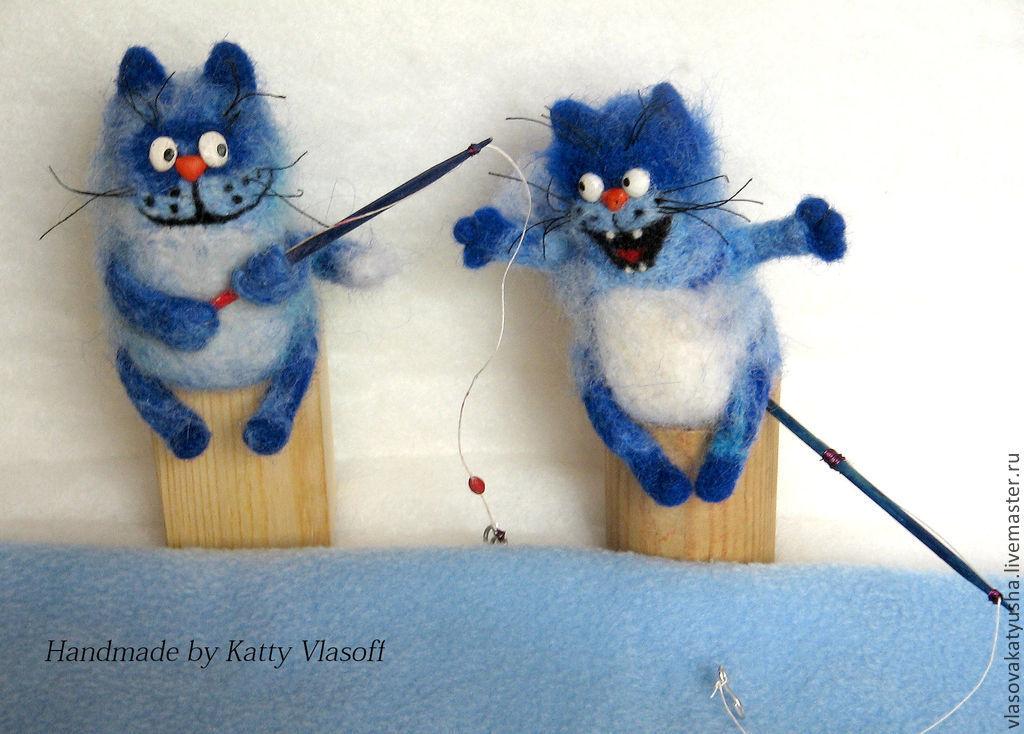 Синие коты. На рыбалке, Мягкие игрушки, Краснодар,  Фото №1