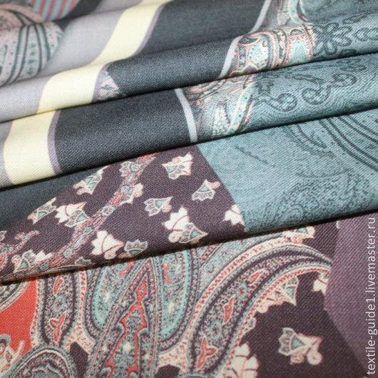 Ткань. Плательная шерстяная ткань по мотивам «ETRO» состав шерсть 100%, цена 3264р, (цена за 1 погонный метр), ширина 140см. Производство Италия.
