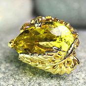 """Украшения ручной работы. Ярмарка Мастеров - ручная работа """"Лесная тайна"""" кольцо с лимонным кварцем на серебре 925. Handmade."""