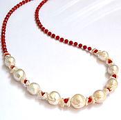 Украшения handmade. Livemaster - original item Necklace with pearls Kasumi the Birth of Venus. Handmade.