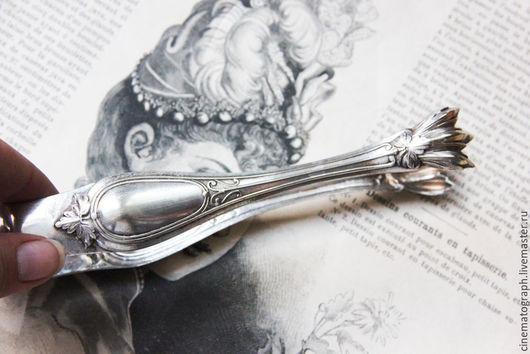 Винтажная посуда. Ярмарка Мастеров - ручная работа. Купить Щипцы FRANCE винтаж. Handmade. Серебряный, французский винтаж, металл