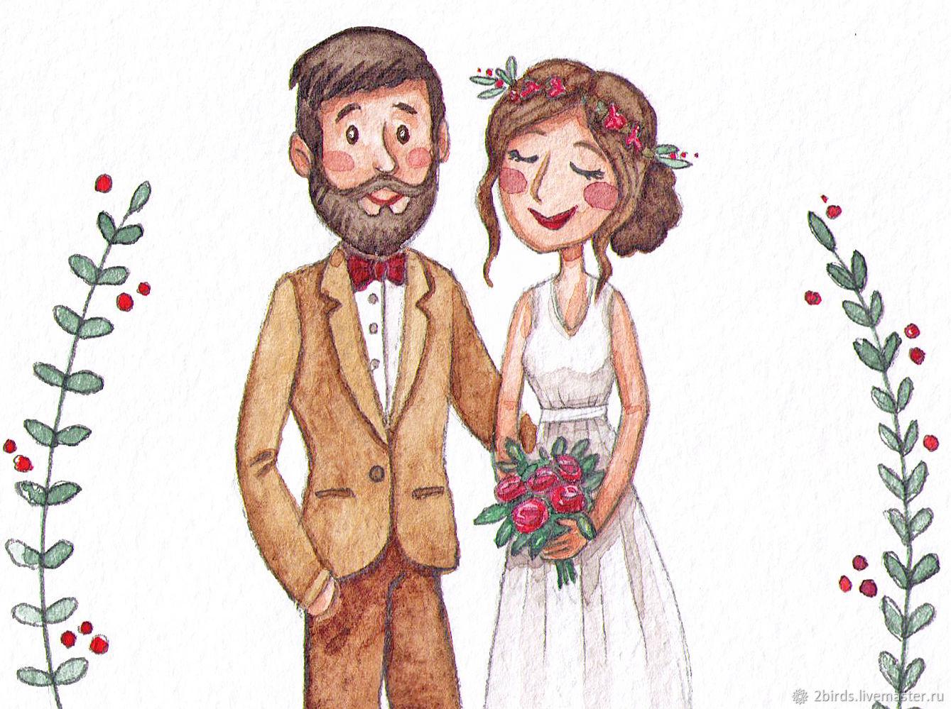 Жених и невеста открытка 13
