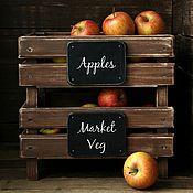 Для дома и интерьера ручной работы. Ярмарка Мастеров - ручная работа Этажерка для овощей Market Veg. Handmade.