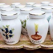 Vintage kitchen utensils handmade. Livemaster - original item New arrival! Spice jars from Royal porcelain Germany. Handmade.