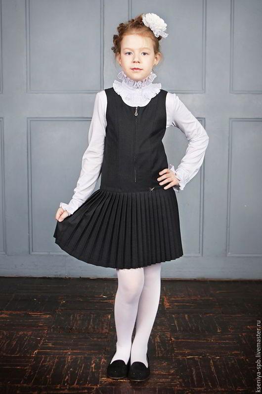 Одежда для девочек, ручной работы. Ярмарка Мастеров - ручная работа. Купить Сарафан для девочки, молния спереди (Арт. 95+). Handmade.