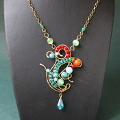 Украшения handmade. Livemaster - original item Pendant Queen Of Autumn. Handmade.