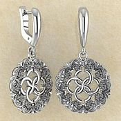 Фен-шуй и эзотерика handmade. Livemaster - original item Earrings Passionate blossoming with a svadebnik. Handmade.