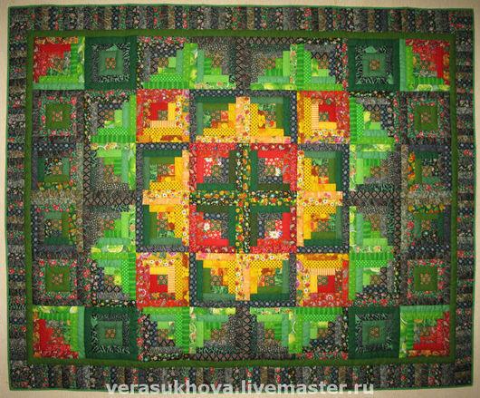 """Текстиль, ковры ручной работы. Ярмарка Мастеров - ручная работа. Купить Лоскутное одеяло""""Трава-мурава"""". Handmade. Лоскутное одеяло, печворк"""