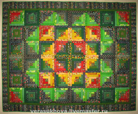 Home Textiles & Carpets handmade. Livemaster - handmade. Buy Patchwork quilt'Grass-ant'.Quilt, patchwork bedspread, patchwork