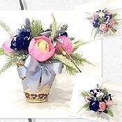 """Цветы и флористика ручной работы. Ярмарка Мастеров - ручная работа Букет из конфет """" Цветочный шоколад"""". Handmade."""