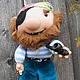 """Коллекционные куклы ручной работы. Ярмарка Мастеров - ручная работа. Купить Кукла """"Пират"""". Handmade. Оригинальный подарок, игрушка для детей"""