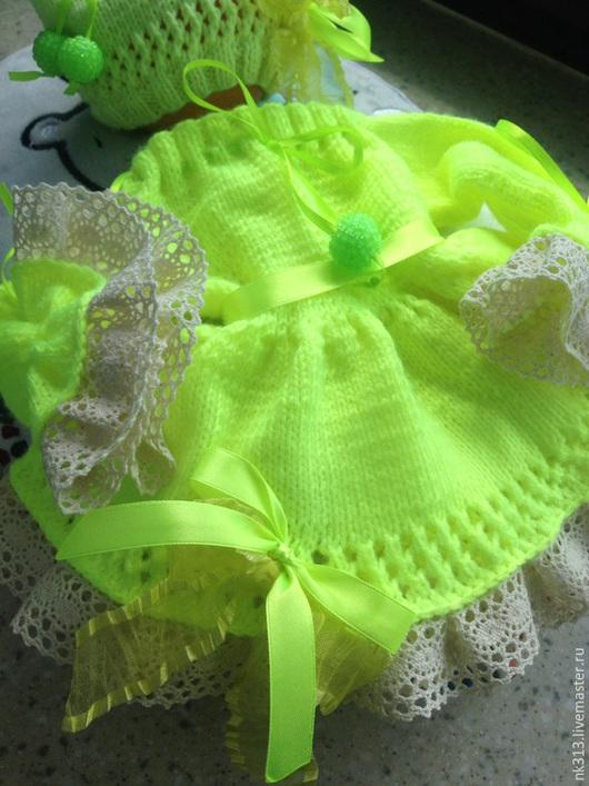 Одежда для кукол ручной работы. Ярмарка Мастеров - ручная работа. Купить Лимонное платье и шапочка. Одежда для кукол. Handmade. Лимонный