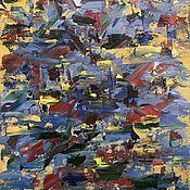 """Картины ручной работы. Ярмарка Мастеров - ручная работа Картина маслом """"Движение"""". Handmade."""