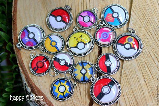 """Кулоны, подвески ручной работы. Ярмарка Мастеров - ручная работа. Купить Кулон брелок  """"Покебол"""" pokeball pokemon pokemon go. Handmade."""