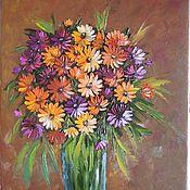"""Картины и панно ручной работы. Ярмарка Мастеров - ручная работа """"Цветочная фантазия"""" Картина маслом Цветы в вазе. Handmade."""