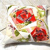 Подушки ручной работы. Ярмарка Мастеров - ручная работа Декоративные диванные подушки, подушечки, лён, лоскутное шитьё. Handmade.