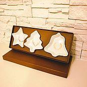 Тарелки ручной работы. Ярмарка Мастеров - ручная работа Подарочный набор тарелок Новогодний. Handmade.