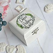 Свадебный салон handmade. Livemaster - original item Wedding jewelry Box for rings