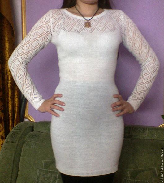 """Платья ручной работы. Ярмарка Мастеров - ручная работа. Купить Платье белое """" ОЧАРОВАНИЕ"""" легкое.. Handmade. Белый"""
