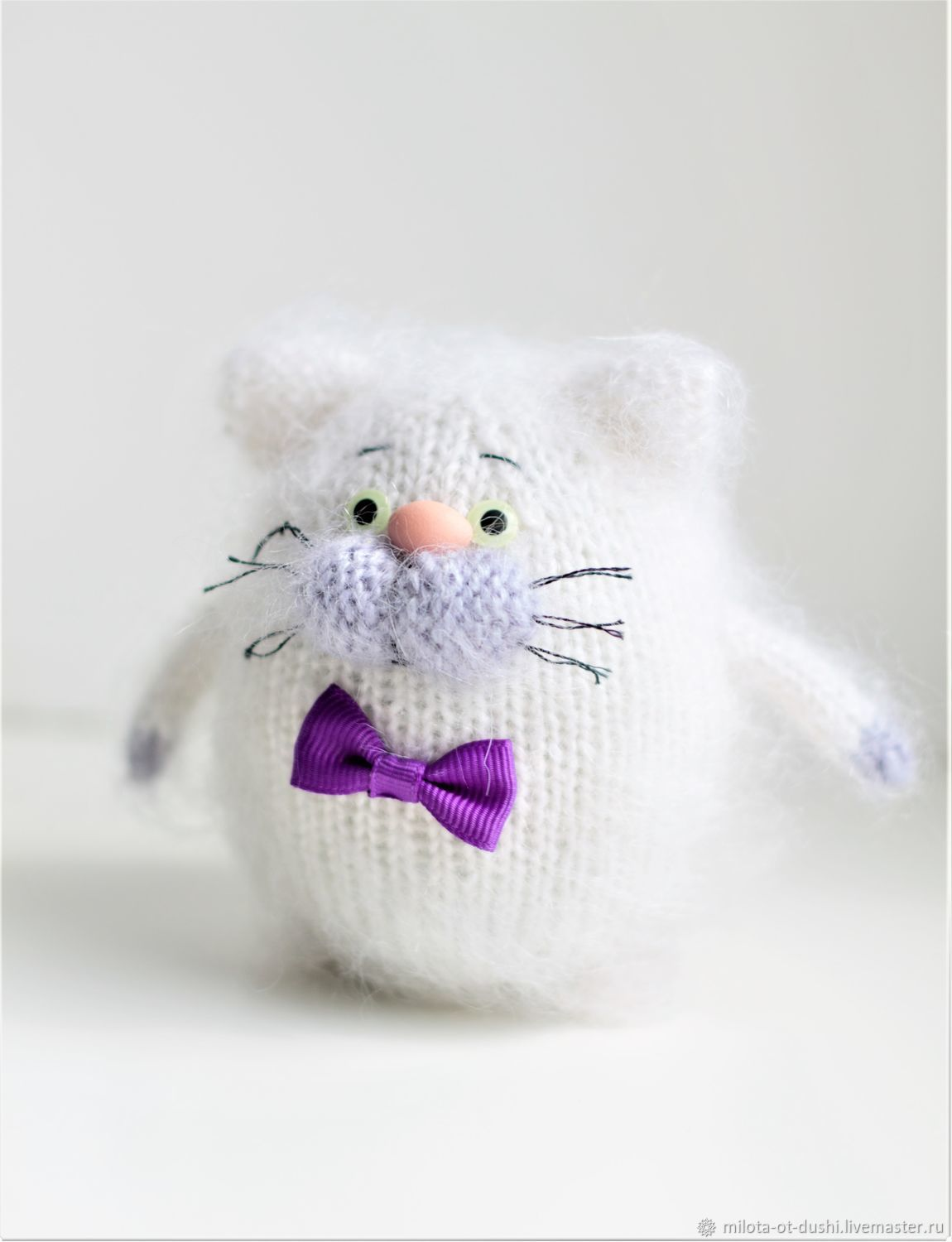 Cat toy knitted cat handmade gift kitten knitted toys, Stuffed Toys, Zhukovsky,  Фото №1