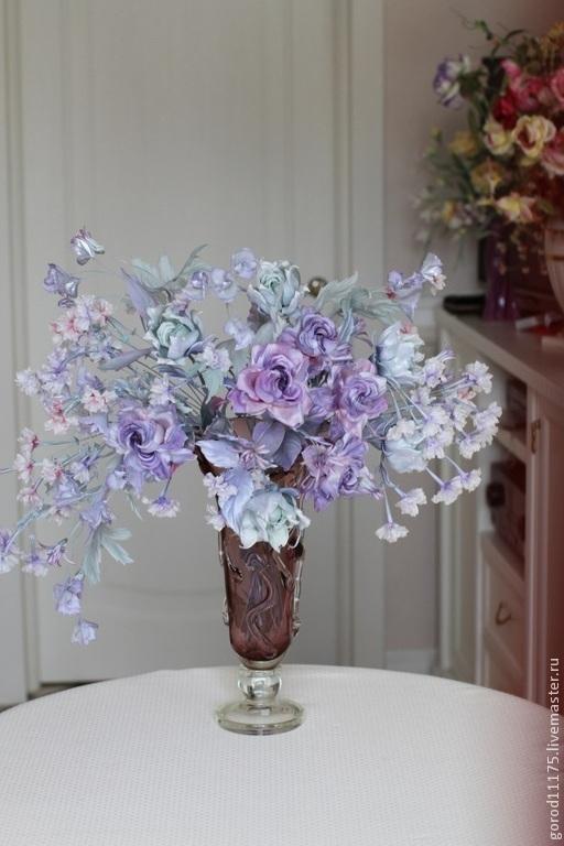 """Цветы ручной работы. Ярмарка Мастеров - ручная работа. Купить Букет """" Голубая мечта"""". Handmade. Голубой, орхидейки"""