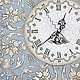 Часы для дома ручной работы. Ярмарка Мастеров - ручная работа. Купить Часы Ангельские. Handmade. Голубой, декупаж работы, ангелы
