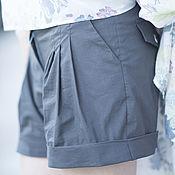 Одежда handmade. Livemaster - original item Summer cotton shorts - PA0727CT. Handmade.