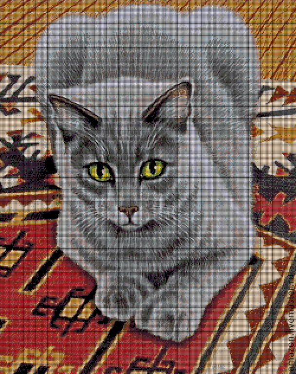 Kit embroidery with beads ' Grey cat ', Sets, Sterlitamak, Фото №1