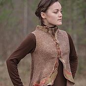 """Одежда ручной работы. Ярмарка Мастеров - ручная работа Жилет """"Ветви"""" войлок. Handmade."""