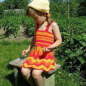 """Работы для детей, ручной работы. Ярмарка Мастеров - ручная работа Сарафан из хлопка """"Ягодное лето"""". Handmade."""